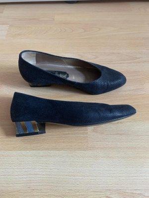 Dorndorf Bildhübsche Leder Pumps, Größe 3 G (36), dunkel Blau, Elegant