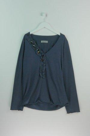 Dorothee Schuhmacher Langarmshirt mit Ziersteinen 38 40 NP 190€