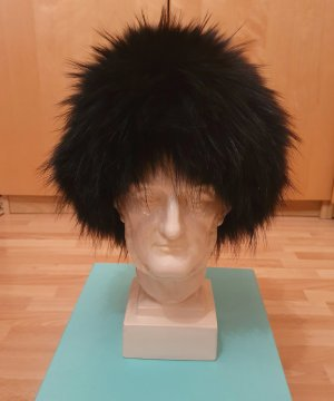Dorothee Schumacher Fur Hat dark blue-black fur