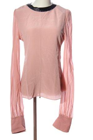 Dorothee Schumacher Gr. 36 Langarm-Bluse rosa schwarz edel