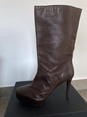 Dorothee Schumacher Halbhohe Stiefel/Stiefeletten/Boots mit hohem Absatz dunkelbraun