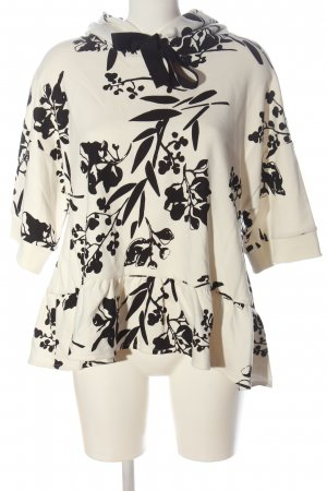 Dorothee Schumacher Hooded Shirt natural white-black abstract pattern