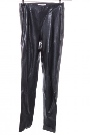 Dorothee Schumacher Pantalon en cuir noir style mouillé
