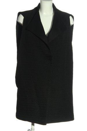 Dorothee Schumacher Gilet long tricoté noir style décontracté
