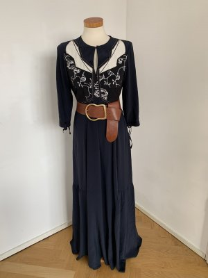 Dorothee Schumacher Maxikleid blau schwarz