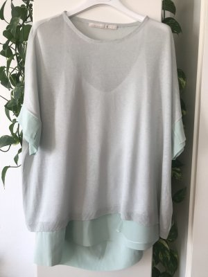 Dorothee Schumacher Short Sleeve Sweater pale blue-sage green