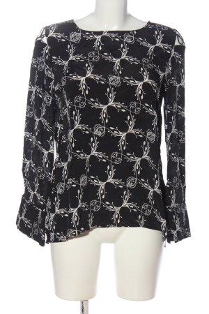 Dorothee Schumacher Schlupf-Bluse schwarz-weiß abstraktes Muster Casual-Look