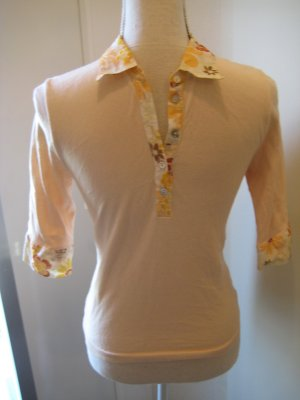 Dorothee Schumacher Shirt Apricot Orange mit Kragen 3/4 Arm Gr S