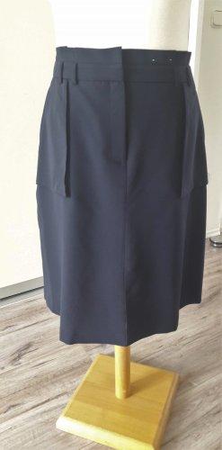 Dorothy Perkins Spódnica midi ciemnoniebieski Tkanina z mieszanych włókien