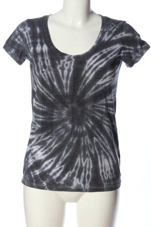 Dorothy Blue T-Shirt hellgrau-schwarz Allover-Druck Casual-Look