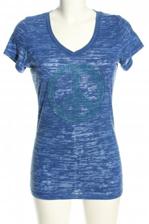 Dorothy Blue V-Neck Shirt blue flecked casual look