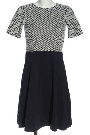 Dorothy Perkins A-Linien Kleid schwarz-weiß grafisches Muster Business-Look