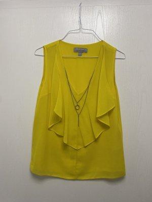 Dorothy Perkins Camicetta con arricciature giallo-giallo pallido