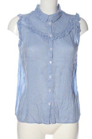 Dorothy Perkins Blouse topje blauw-wit volledige print casual uitstraling