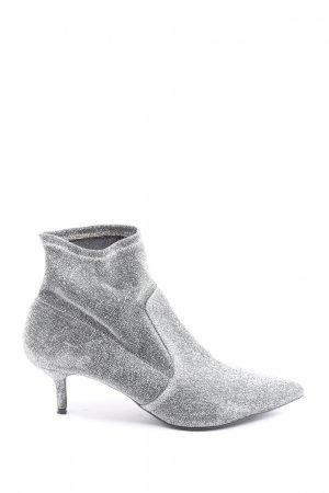 Dorothy Perkins Booties silver-colored wet-look