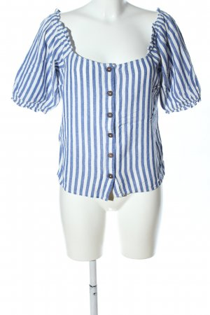 Dorothy Perkins Carmen Blouse blue-white striped pattern casual look