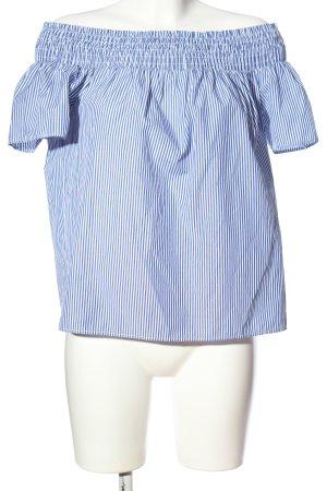 Dorothy Perkins Carmen blouse blauw-wit gestreept patroon casual uitstraling