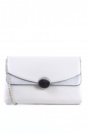 Dorothy Perkins Clutch white-silver-colored elegant