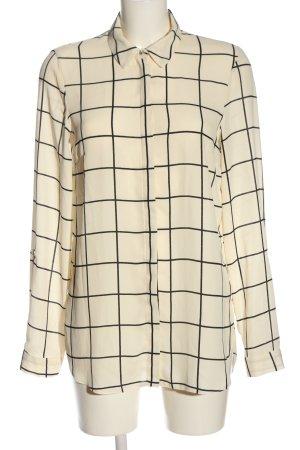 Dorothy Perkins Camicia blusa crema-nero motivo a quadri stile professionale