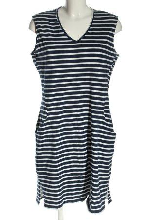 Dorothy Perkins Jerseykleid blau-weiß Streifenmuster Casual-Look