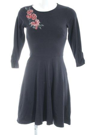 Dorothy Perkins Jerseykleid dunkelblau Blumenmuster schlichter Stil
