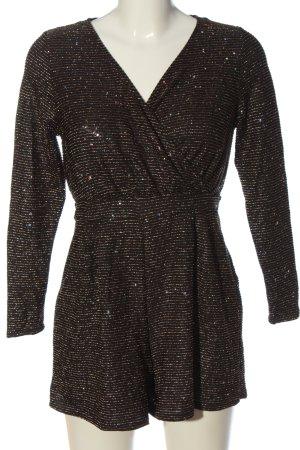 Dorothy Perkins Jumpsuit schwarz-goldfarben Allover-Druck Elegant