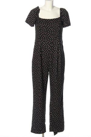 Dorothy Perkins Jumpsuit schwarz-wollweiß Blumenmuster Casual-Look
