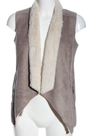 Dorothy Perkins Kamizelka ze sztucznym futrem brązowy-w kolorze białej wełny
