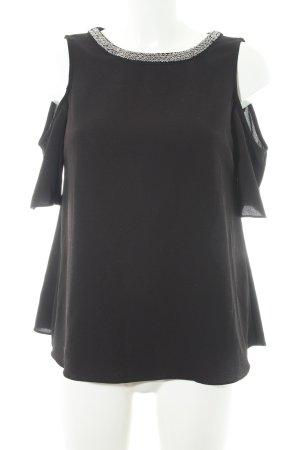 Dorothy Perkins Kurzarm-Bluse schwarz Elegant