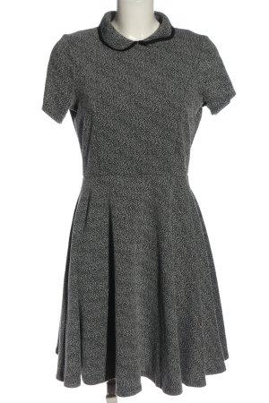Dorothy Perkins Abito a maniche corte nero-bianco motivo astratto elegante