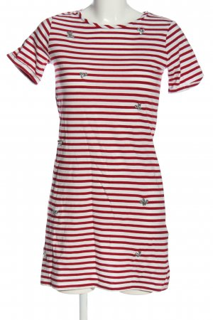 Dorothy Perkins Kurzarmkleid rot-weiß Streifenmuster Casual-Look
