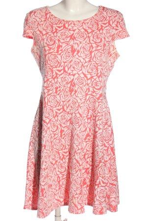 Dorothy Perkins Kurzarmkleid pink-weiß Allover-Druck Elegant