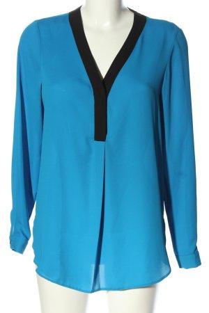 Dorothy Perkins Langarm-Bluse blau-schwarz Business-Look