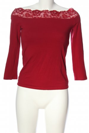 Dorothy Perkins Langarm-Bluse rot Casual-Look