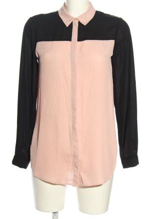 Dorothy Perkins Langarm-Bluse pink-schwarz Business-Look