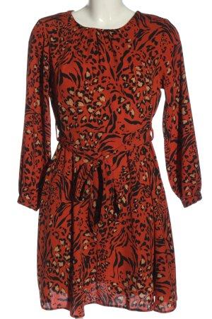 Dorothy Perkins Minikleid rot-schwarz Allover-Druck Business-Look
