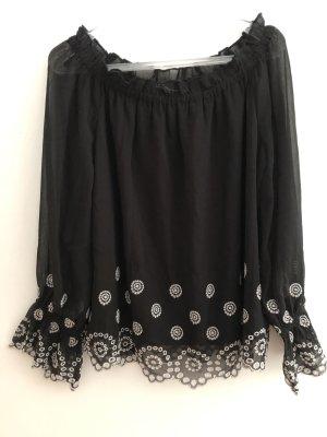 Dorothy Perkins Carmen Blouse black-white polyester