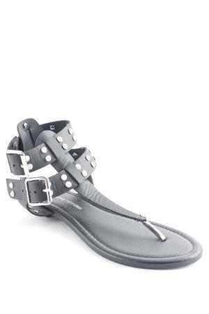 Dorothy Perkins Riemchen-Sandaletten schwarz-weiß Street-Fashion-Look