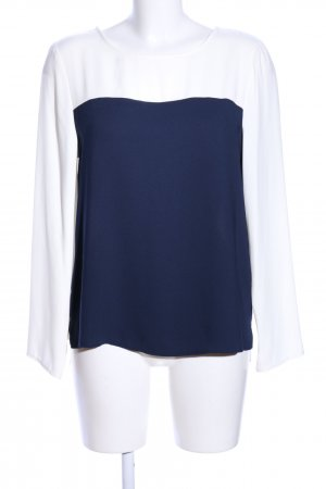Dorothy Perkins Schlupf-Bluse weiß-blau Business-Look