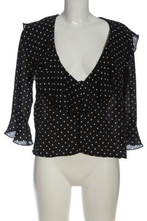 Dorothy Perkins Schlupf-Bluse schwarz-weiß Punktemuster Casual-Look