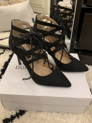 Dorothy Perkins Lace-up Pumps black-gold-colored