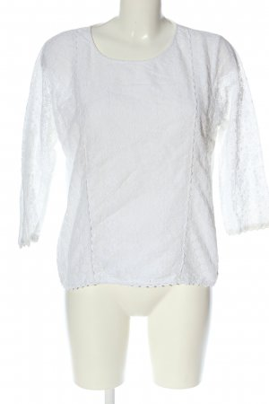 Dorothy Perkins Lace Blouse white weave pattern casual look