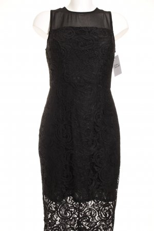 Dorothy Perkins Spitzenkleid schwarz abstraktes Muster Elegant