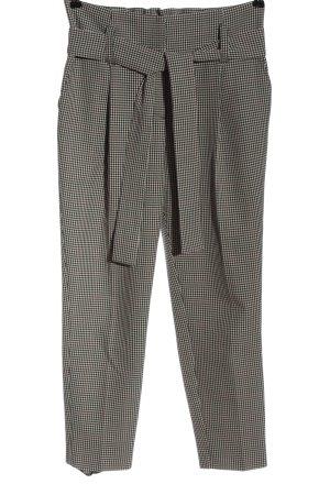 Dorothy Perkins Pantalone jersey nero-bianco sporco motivo a quadri elegante