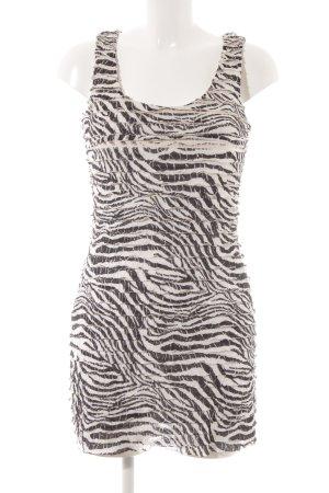 Dorothy Perkins Stretchkleid weiß-schwarz Animalmuster Elegant