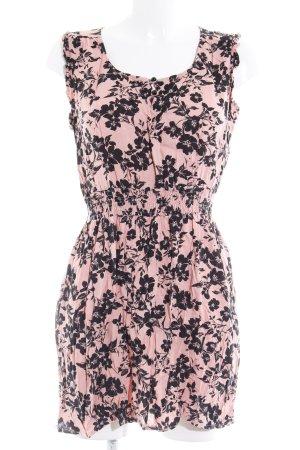 Dorothy Perkins Trägerkleid schwarz-rosa florales Muster Casual-Look