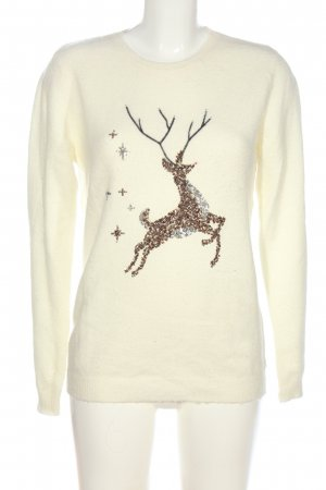 Dorothy Perkins Christmasjumper cream themed print casual look