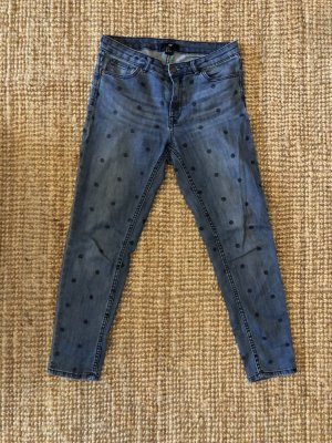 Dot Design Boyfriend Jeans