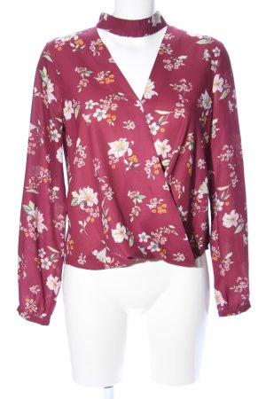 Dotti Langarm-Bluse rot Blumenmuster Casual-Look