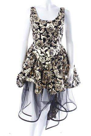 Dotti Vintage Abendkleid goldfarben-schwarz gemustert